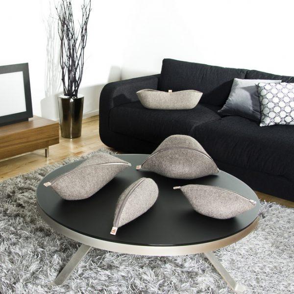 gyapjú filc tároló, lakás dekoráció