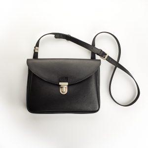 fekete bőr női kis táska